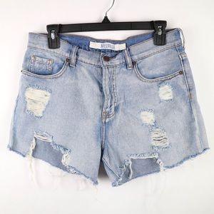 PacSun Melville boyfriend destroy jean shorts 29